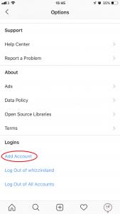How to add Instagram Account - www.whizz.ie