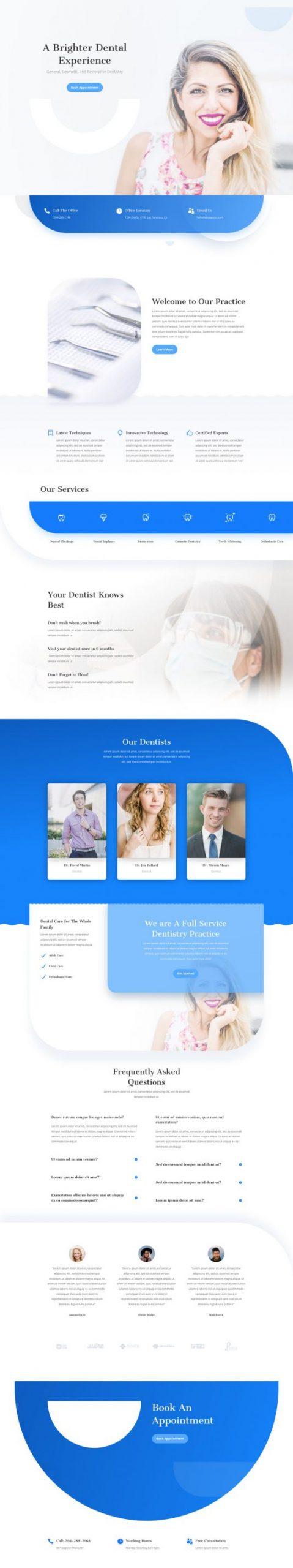 Elegant Themes - Divi - dentist-landing-page-533x2847