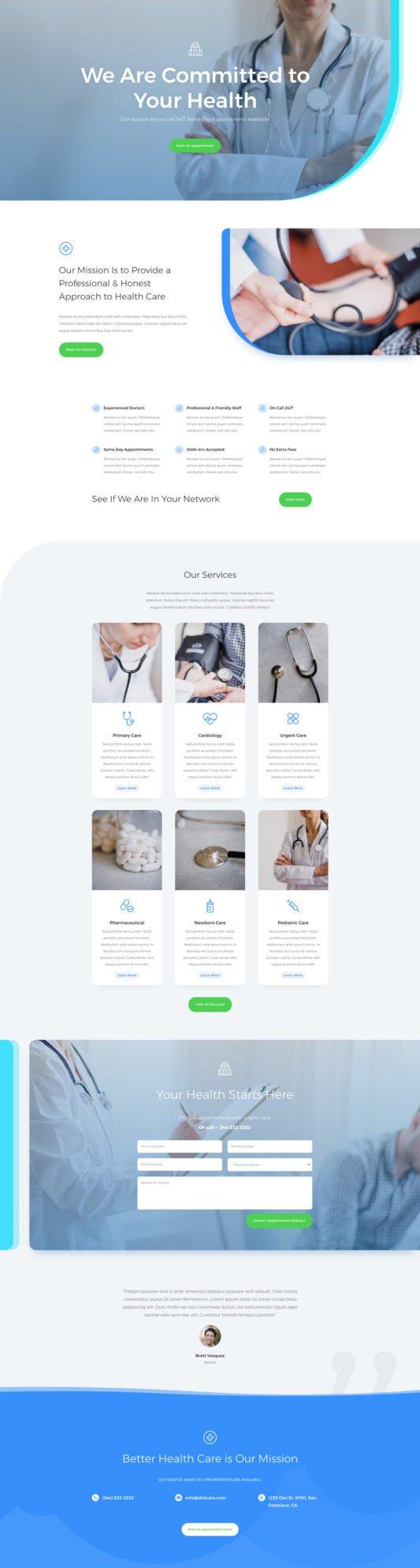 Elegant Themes - Divi - doctors-office-landing-page-533x1989