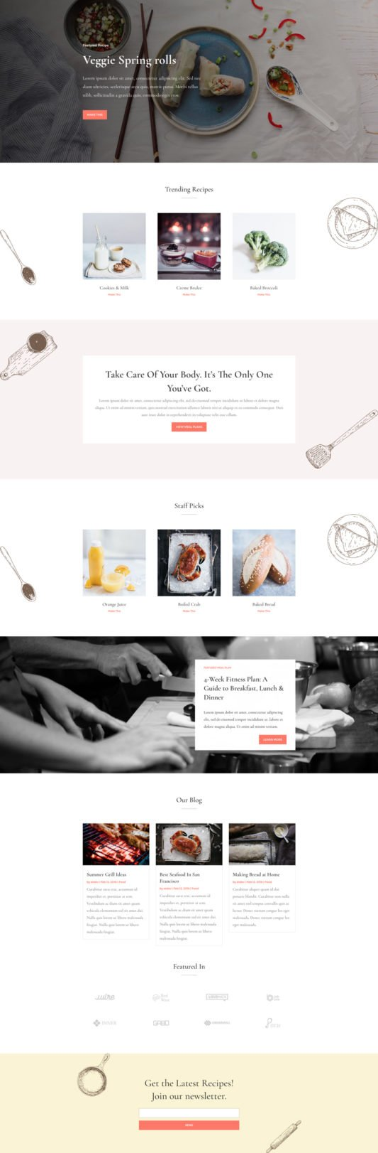 Elegant Themes - Divi-food-recipes-landing-page-1-533x1622