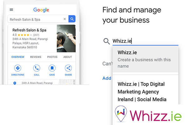 Enter-your-business-name-on-Google-My-Business-by-Whizz.ie
