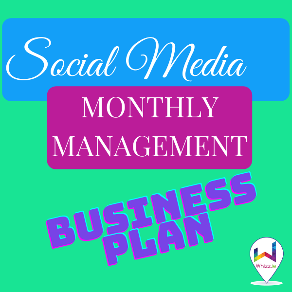 Social Media Monthly Management - Business Plan from Whizz.ie