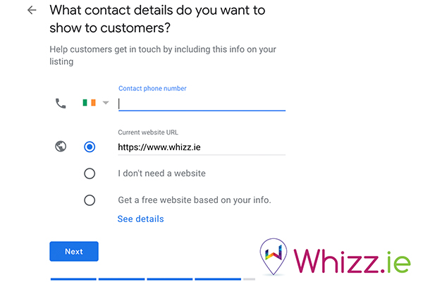 What-contact-details-do-you-want-to-show-customers-on-Google-My-Business-by-Whizz.ie