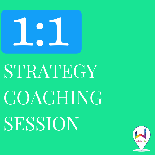 1 to 1 Strategy Coaching Session - Whizz.ie